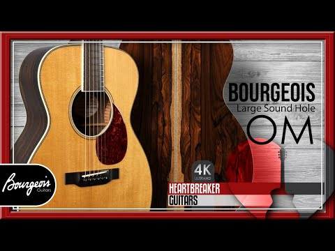 Bourgeois OM Large Sound Hole with Aged Tone Adirondack Spruce over Ziricote